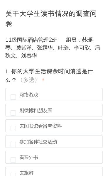 11级国际酒店管理2班   组员:苏瑶琴、莫紫洋、张露华、叶璐、李可欣、冯秋文、刘春华